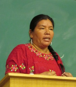 Angelica Choc has denounced the murder of her husband, Maya Q'eqchi' activist and leader Adolfo Ich, in Europe and Canada.