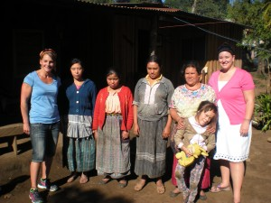 BTS delegates and their host families in Chimaltenango.