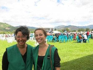 Eliza MacLaughlin (left) from PEI has been a BTS accompanier with the ACOGUATE project since May 2014.