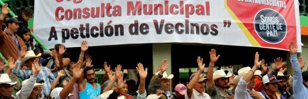 Anniversary of the municipal consultation in Mataquescuintla