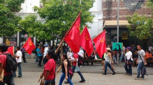 May Day March for labour justice in Guatemala City.